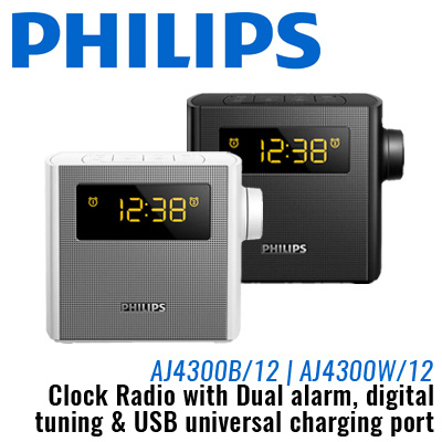 qoo10 philips clock radio with dual alarm digital tuning and usb universal c furniture deco. Black Bedroom Furniture Sets. Home Design Ideas