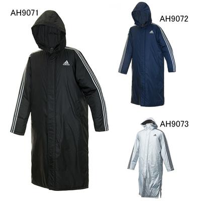 アディダス (adidas) M 3ストライプ ロング コート BDE01 [分類:サッカー ベンチコート・ボアコート] 送料無料の画像