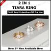 Shining Queen Crown Ring/ Tiara Ring/ 2in1 ring/ring/Love ring/Valentines gift/Handmade ring