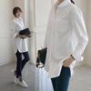 [CANMART]韓国ファッション★ホワイトロングシャツ C012656 ★FREE L 2つサイズ★シンプルにデイリーるっくで活用価値がGOOD~