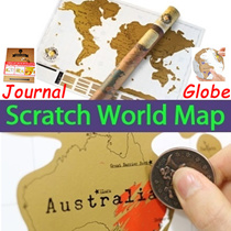 Scratch Map Poster: ★★Travelogue Scratch Map Travel Journal★DIY Scratch Globe World Map★Scratch off World Travel Map★Adventure TravelScratch Map★