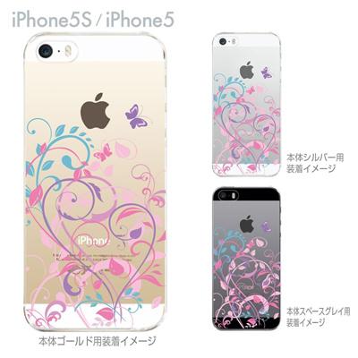 【iPhone5S】【iPhone5】【iPhone5sケース】【iPhone5ケース】【カバー】【スマホケース】【クリアケース】【フラワー】【花と蝶】 22-ip5s-ca0083の画像