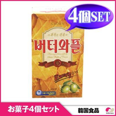 【韓国お菓子 4個セット】バター味のサクサク バターワップル 4個セットの画像