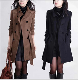 Fashion Female Woman Autumn Winter Wool Down Jacket Coat Sweater Cloak Shawl Quality Plus Size Dress