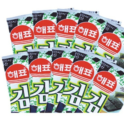 『ヘピョ 弁当用海苔1袋10パック』1BOX30袋 韓国商品 韓国料理の画像