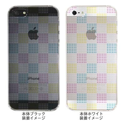 【iPhone5S】【iPhone5】【Clear Arts】【iPhone5ケース】【カバー】【スマホケース】【クリアケース】【チェック・ボーダー・ドット】【ドットボックス】【マルチカラー】 ip5-06ca051a-mの画像