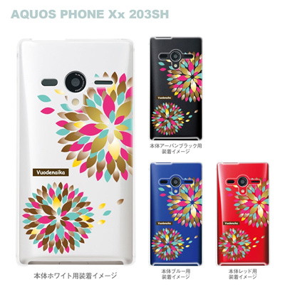 【AQUOS PHONEケース】【203SH】【Soft Bank】【カバー】【スマホケース】【クリアケース】【Vuodenaika】【フラワー】 21-203sh-ne0012caの画像