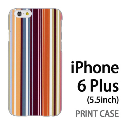 iPhone6 Plus (5.5インチ) 用『0820 縦ストライプ』特殊印刷ケース【 iphone6 plus iphone アイフォン アイフォン6 プラス au docomo softbank Apple ケース プリント カバー スマホケース スマホカバー 】の画像
