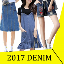 【May 25th updated】 2017 NEW STYLISH DENIM COLLECTION SKIRT SHORT DRESS TOP JUMPSUIT