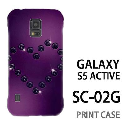 GALAXY S5 Active SC-02G 用『No4 ダイヤハート 紫』特殊印刷ケース【 galaxy s5 active SC-02G sc02g SC02G galaxys5 ギャラクシー ギャラクシーs5 アクティブ docomo ケース プリント カバー スマホケース スマホカバー】の画像