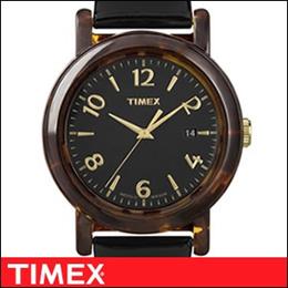 TIMEX タイメックス 腕時計 T2P238 レディース Classic Round Touch of Tortoise クラシック ラウンド タッチオブトートイズ Marble マーブル【並行輸入品】