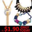 1+1 FREE Gift/19 Mar New Arrivals/ONLY TODAY Super Sale Korean Necklaces