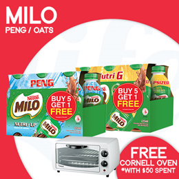 [Nestle] Mix n Match MILO NUTRI G AND NUTRI UP RTD【FREE CORNELL OVEN with min. spend of $50!】