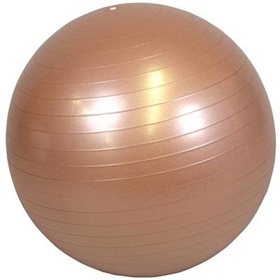ラッキーウエスト(Luckywest)アンチバーストヨガバランスボール(55cm)ゴールドLW-BA327【バランスボールストレッチエクササイズダイエット美容】