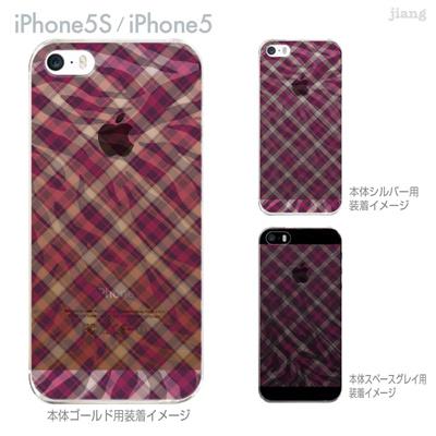 【iPhone5S】【iPhone5】【iPhone5sケース】【iPhone5ケース】【カバー】【スマホケース】【クリアケース】【チェック・ボーダー・ドット】【チェックとゼブラ柄】 21-ip5s-ca0047の画像