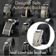 Mens Automatic Buckle Genuine Belt/ Business Black Belts/ Cowhide Leather Waist Strap/Birthday Christmas Gift