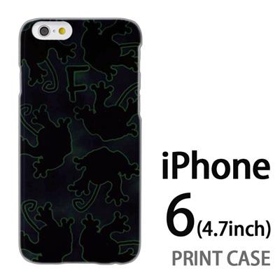 iPhone6 (4.7インチ) 用『No1 F カエルの影』特殊印刷ケース【 iphone6 iphone アイフォン アイフォン6 au docomo softbank Apple ケース プリント カバー スマホケース スマホカバー 】の画像
