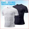 【EXIO】エクシオ接触冷感・高機能アンダーウェアラウンドネック半袖メール便選択: 送料無料