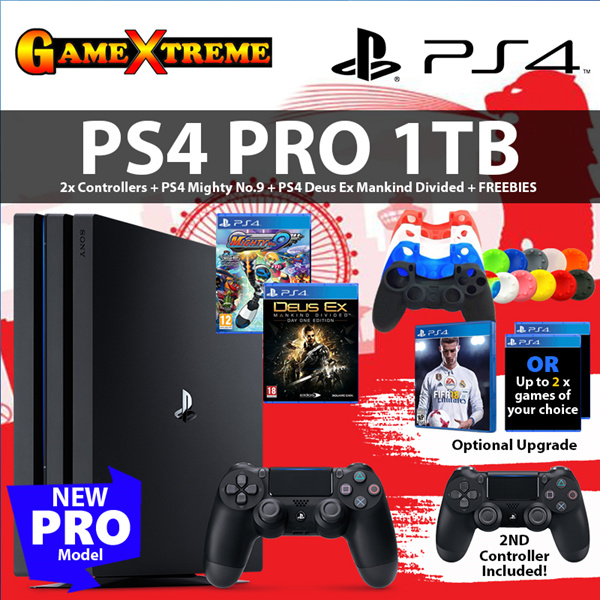 ?PS4 PRO 1TB Best Bundled? Free 2nd Dualshock Controller n Skin Sets / 2 x PS4 Games Deals for only S$679 instead of S$0
