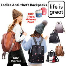 [Free Travel Makeup Pouch] Anti-Theft Backpack Travel Ladies - Shoulder Bag Series Travel Use