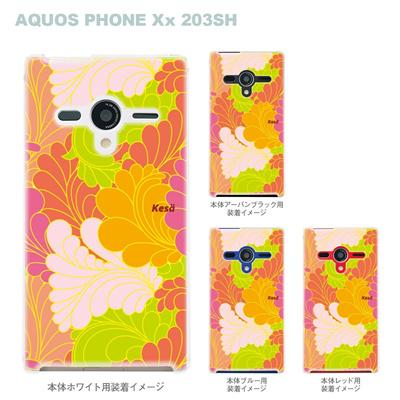 【AQUOS PHONEケース】【203SH】【Soft Bank】【カバー】【スマホケース】【クリアケース】【Vuodenaika】【フラワー】 21-203sh-ne0017caの画像