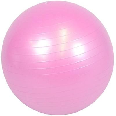 ラッキーウエスト(Luckywest)アンチバーストヨガバランスボール(55cm)ピンクLW-BA328【バランスボールストレッチエクササイズダイエット美容】