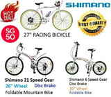 SHIMANO 21 Speed Gear Foldable Mountain Bicycle / SHIMANO 6 Speed Gear Foldable Bicycle / Racing Bicycle