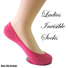 Ladies Ultra low cut Invisble Boat Socks Non-Slip Modal Cotton Bamboo Fiber Women Socks