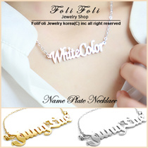 【2017 New Product +Free Shipping】♥Birthdays Gift ♥Nameplate Necklace♥Wrapping Free