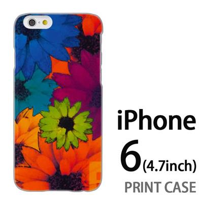 iPhone6 (4.7インチ) 用『No1 F フラワー』特殊印刷ケース【 iphone6 iphone アイフォン アイフォン6 au docomo softbank Apple ケース プリント カバー スマホケース スマホカバー 】の画像