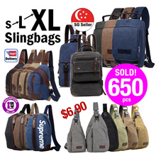 Valentine Gift★Sling Bag★SlingBags Cross Bags/Chest Bags/Travel Bags/Slingbags/Canvas Bags/Small Front Bags [SG Seller] Birthday Gift