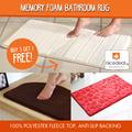 [MUST BUY] Buy 3 Get 1 Free! Memory Foam Bathroom Rug/ Anti Slip/ Microfiber/ Fluffy/ Floor Mat.