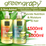 $19.90 End at 10AM today! [1500ML+1500ML] GREENGRAPY ASSORTED SHAMPOO/CONDITIONER/BODY WASH[*5 NON ADDED -  Artificial Colors/Parabens/Dioxine/Benzophenone/Mineral Oil] MADE IN KOREA