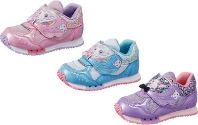 (A倉庫)【ジュエルペット】JWPT C27 子供靴 スニーカー 女の子 キッズ キャラクター シューズ 靴【2015年モデル】の画像