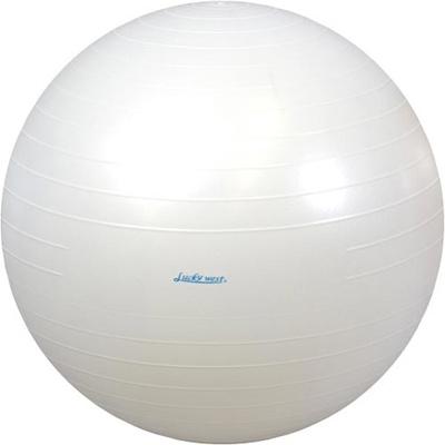 ラッキーウエスト(Luckywest)アンチバーストヨガバランスボール(55cm)ホワイトLW-BA329【バランスボールストレッチエクササイズダイエット美容】