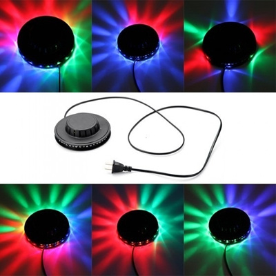 Voice-activated LED RGB Stage Light Bar Party Disco DJ Stage Lighting 8W 48 LED 90-240V H9521の画像