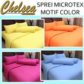 SPREI BAHAN MICROTEX MOTIF FULL COLOR POLOS ~ Warna Tidak Luntur ~ Hanya sprei saja tidak termasuk bed cover