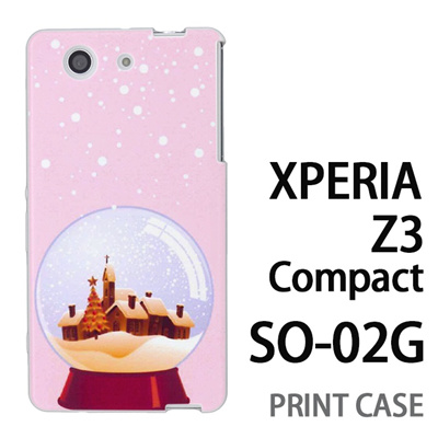 XPERIA Z3 Compact SO-02G 用『1222 冬景色in水晶 ピンク』特殊印刷ケース【 xperia z3 compact so-02g so02g SO02G xperiaz3 エクスペリア エクスペリアz3 コンパクト docomo ケース プリント カバー スマホケース スマホカバー】の画像