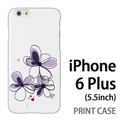 iPhone6 Plus (5.5インチ) 用『0822 花びら3つ 黒』特殊印刷ケース【 iphone6 plus iphone アイフォン アイフォン6 プラス au docomo softbank Apple ケース プリント カバー スマホケース スマホカバー 】の画像