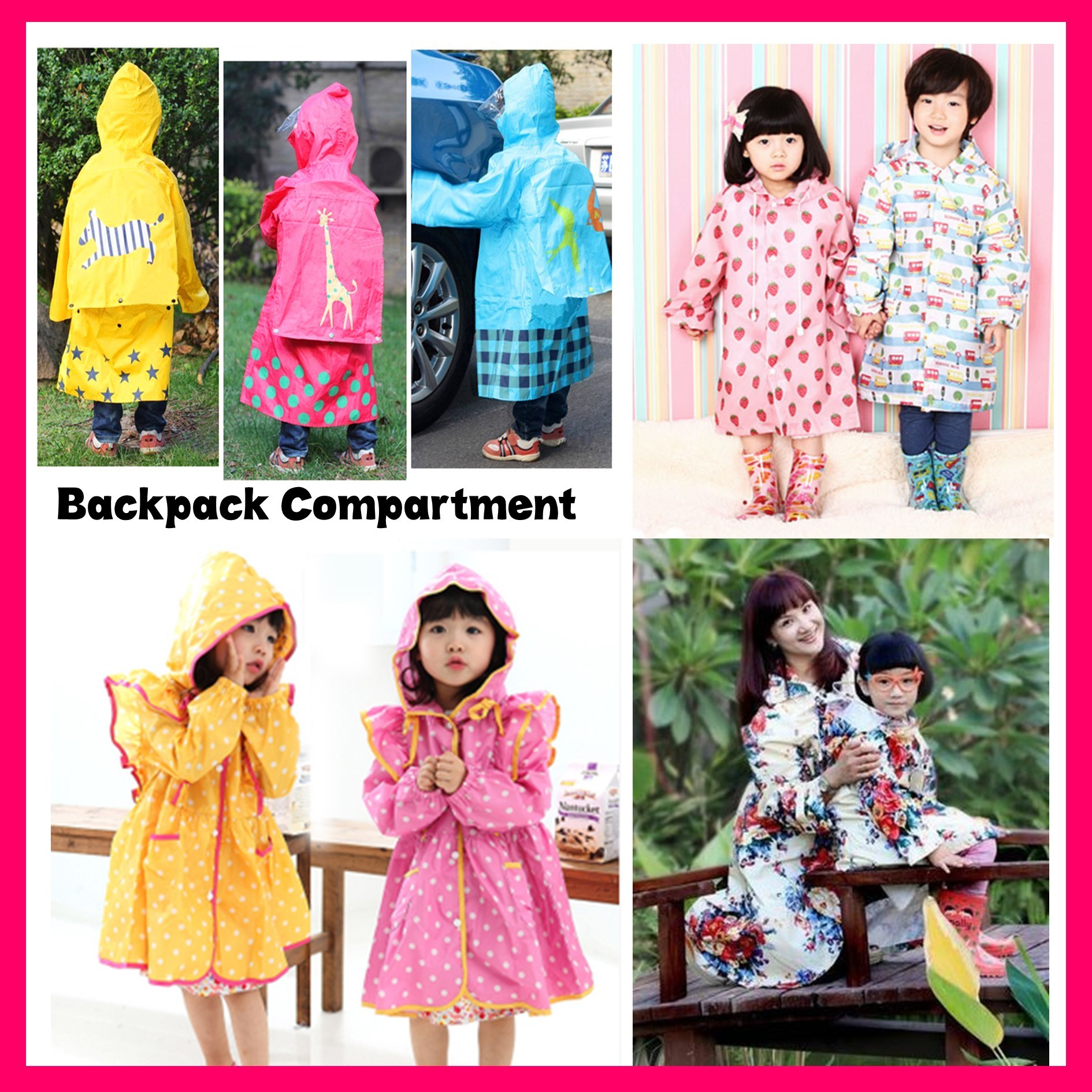 Black dress qoo10 -  2pc Free Shipping Children Adult Raincoat Rainboots Umbrella Cute Princess