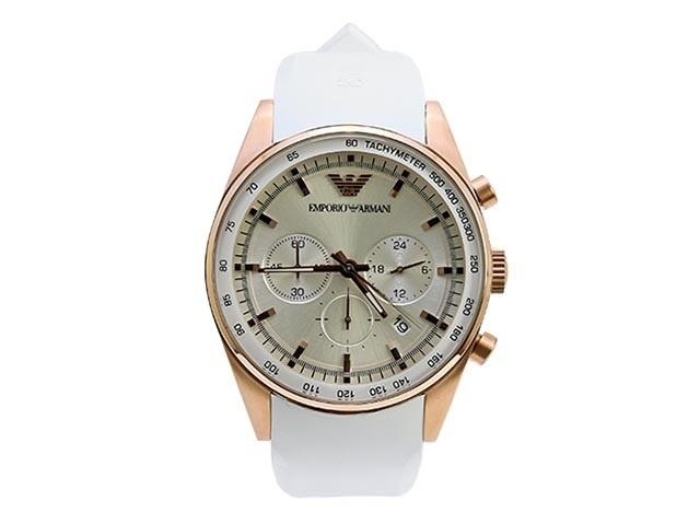 【クリックで詳細表示】EMPORIO ARMANI エンポリオアルマーニ 腕時計 AR5979 ホワイト メンズウォッチ ラバー クロノグラフ EMPORIO ARMANI エンポリオ アルマーニ 腕時計 メンズ 時計 WATCH ウォッチ