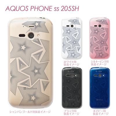 【AQUOS PHONE ss 205SH】【205sh】【Soft Bank】【カバー】【ケース】【スマホケース】【クリアケース】【チェック・ボーダー・ドット】【トランスペアレンツ】【ワイヤスター】 06-205sh-ca0021mの画像