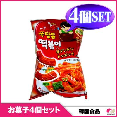 【韓国お菓子4個セット】【ヘテ】シンダンドン トッポキ (75g)4個セット snack / hot 【YDKG-s】の画像