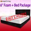 [FURNITURE SALES] Queen Mattress + Queen Bedframe Set / Bed with Frame!!! FREE 2x PILLOW !!!!