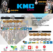 [KMC] 10 speed Bicycle Chains. For Mountain Road City bike. Compatible with Shimano SRAM. Compatible with all 10-speed drivetrain. X10SL L X10 Ti-Gold Nickel plated Anti-Rust technology (EPT).