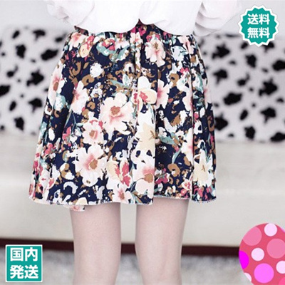 【ZAKZAK・国内発送】送料無料 レディース ファッション クラシック 花柄シフォン ハイウエストスカート プリーツスカート タイトスカート ミニスカート#5650#の画像