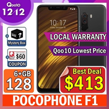 ★Mystery Box Event★ Xiaomi POCOPHONE F1 6+128GB/ Local warranty / Lowest Price In Qoo10 /  / 4000mAh batter