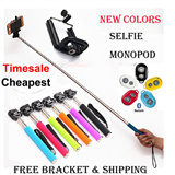 New Year Gift Selfie Monopod with FREE phone holder / Bluetooth Remote Shutter / Selfie Stick for iPhone 6 plus iPad Samsung Note 3 4 S5 (SG local Seller)