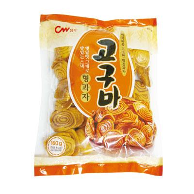 さつまいも形お菓子|サツマイモ味(160g)[スナック][韓国お菓子][韓国食品]の画像