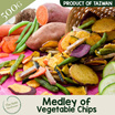 [500g] Delicious Vegetable Chips Medley from Taiwan with fresh sweet potatoes carrot taro long beans radish